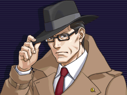 Gregory Edgeworth looking forward seriously with his right hand on the brim of his hat and left hand in his coat pocket.